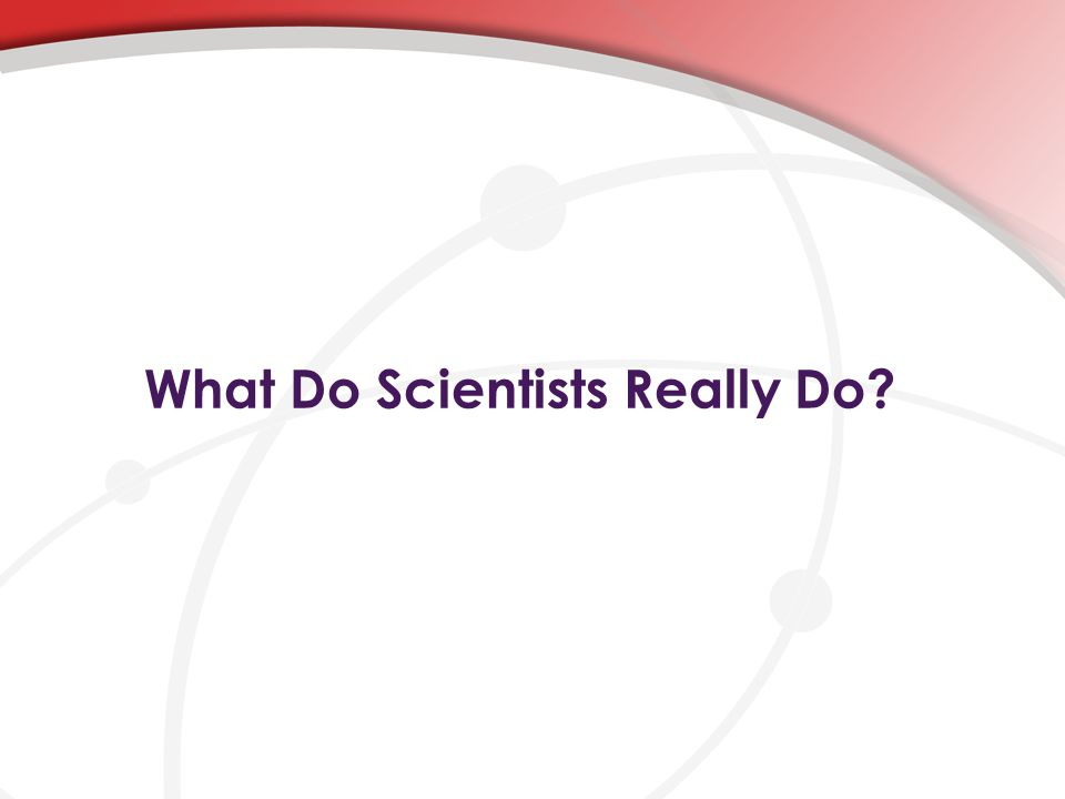 What Do Scientists Really Do