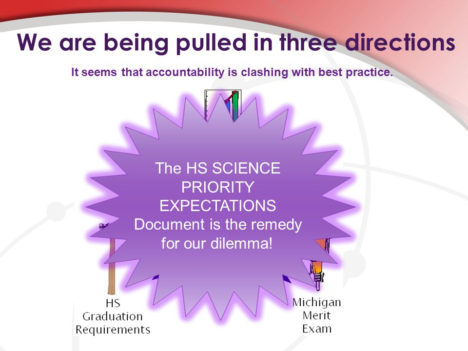 We are being pulled in three directions It seems that accountability is clashing with best practice.