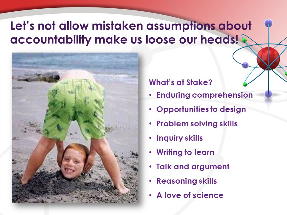 Let's not allow mistaken assumptions about accountability make us loose our heads.