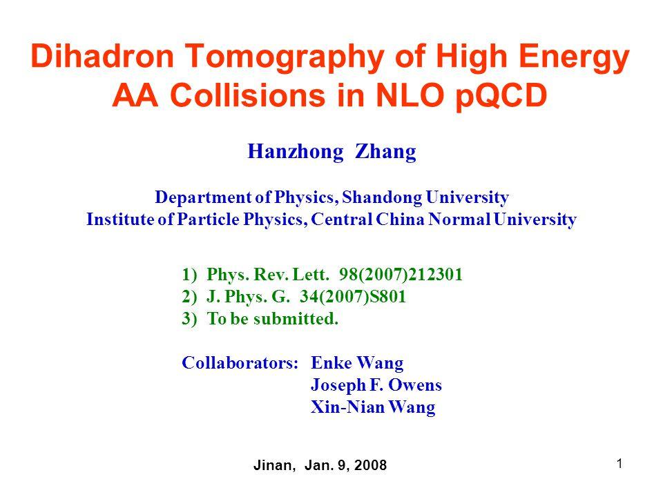 12 III.Numerical analysis on single hadron and dihadron production 1.