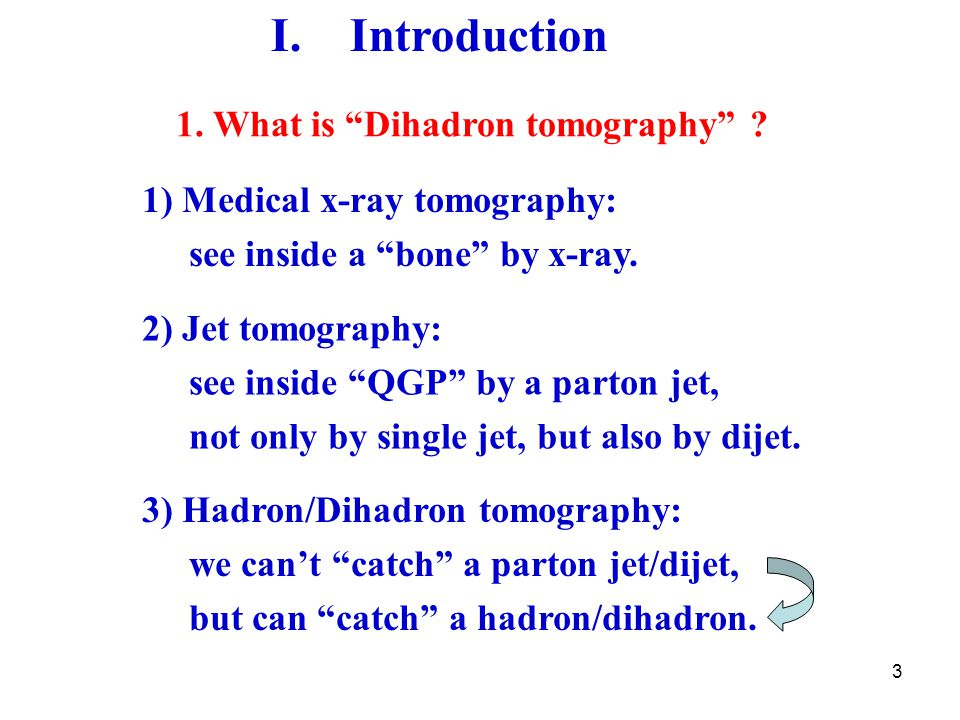 3 I. Introduction 1. What is Dihadron tomography .