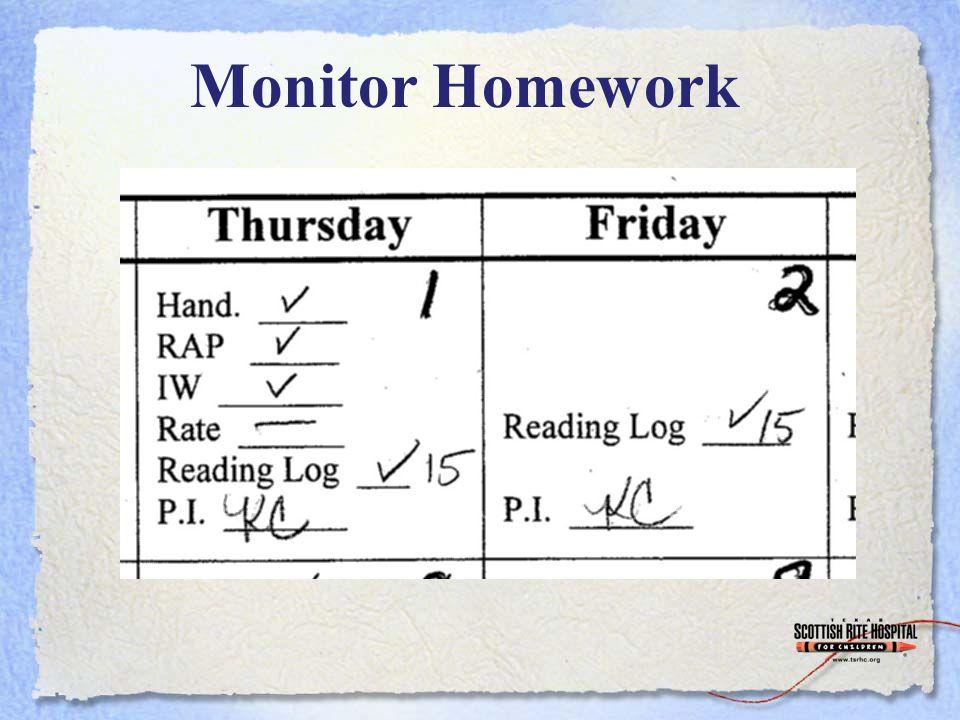 Monitor Homework