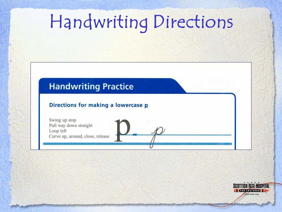Handwriting Directions
