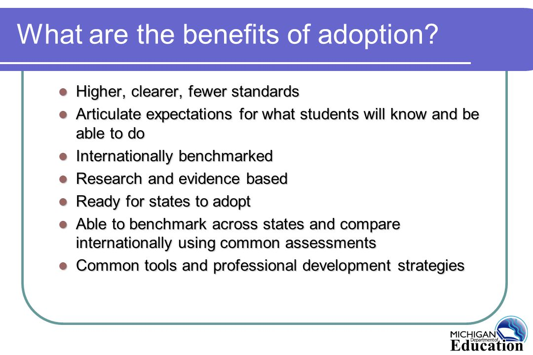 What are the benefits of adoption.