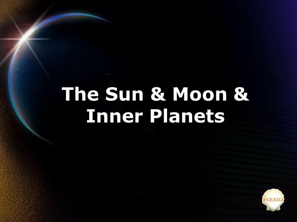 The Sun & Moon & Inner Planets
