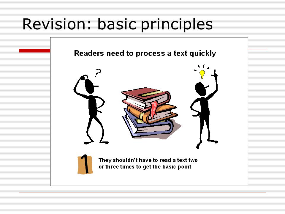 Revision: basic principles