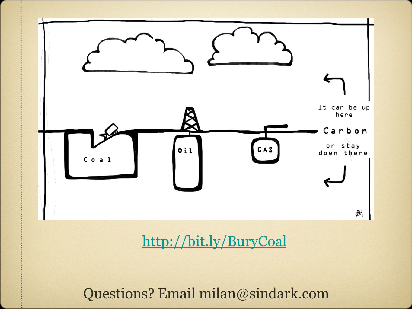 Questions Email milan@sindark.com http://bit.ly/BuryCoal