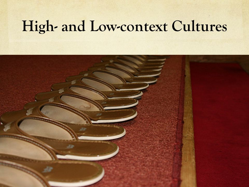 High- and Low-context Cultures