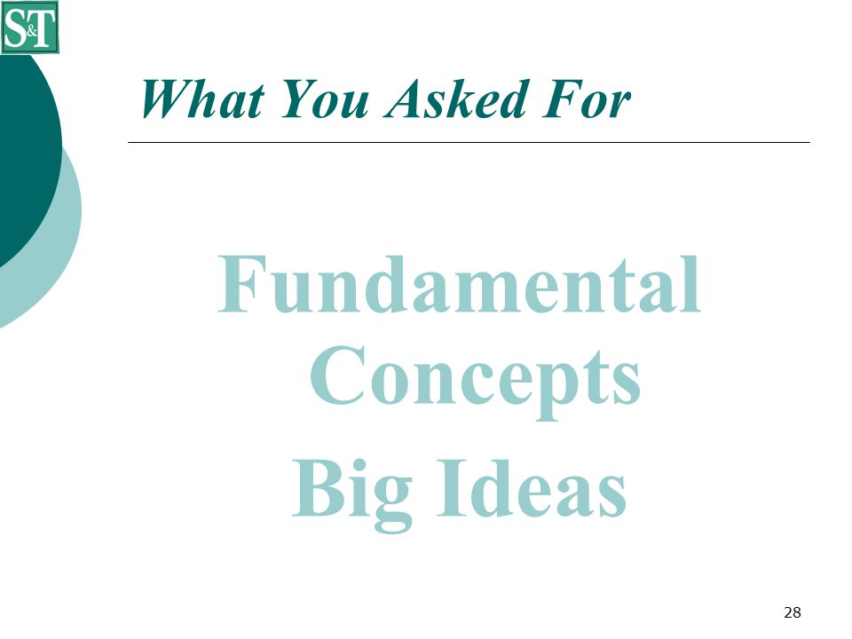 28 What You Asked For Fundamental Concepts Big Ideas