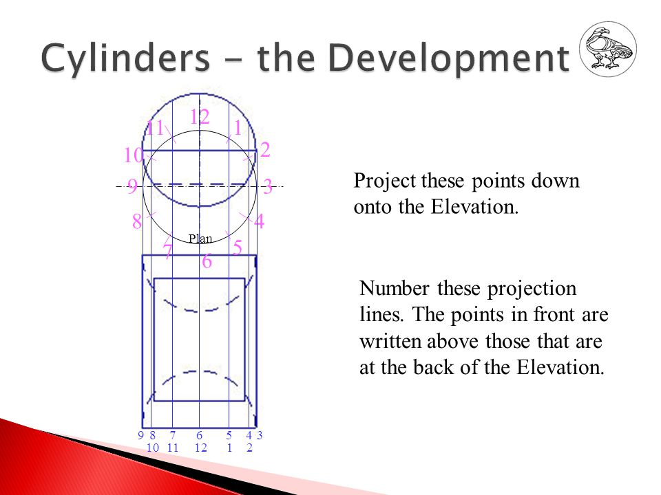Project these points down onto the Elevation.