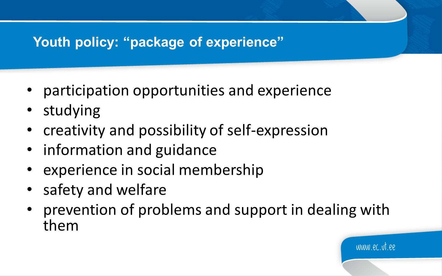 participation opportunities and experience studying creativity and possibility of self-expression information and guidance experience in social member