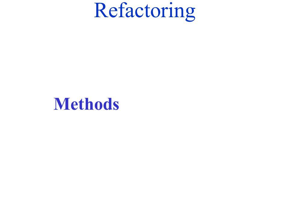 Refactoring Methods
