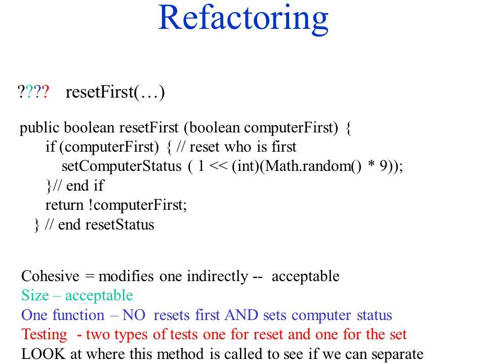 Refactoring .