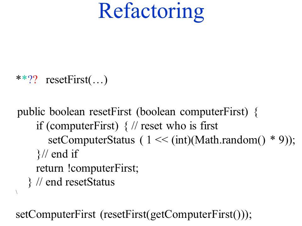 Refactoring ** .