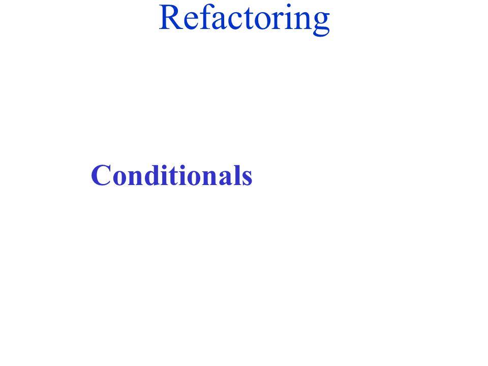 Refactoring Conditionals