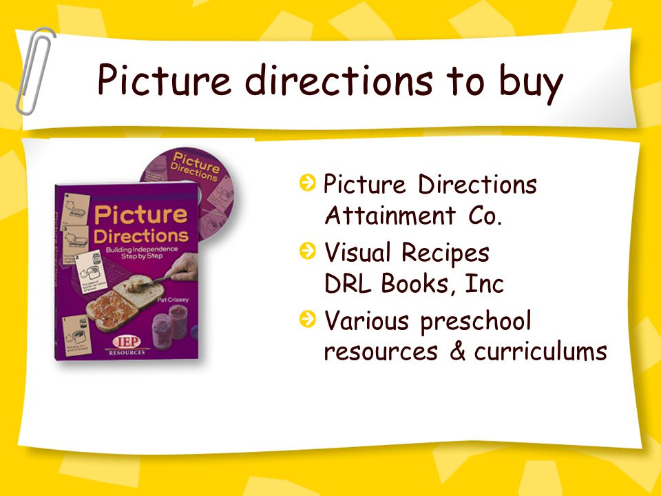 Picture directions to buy Picture Directions Attainment Co.