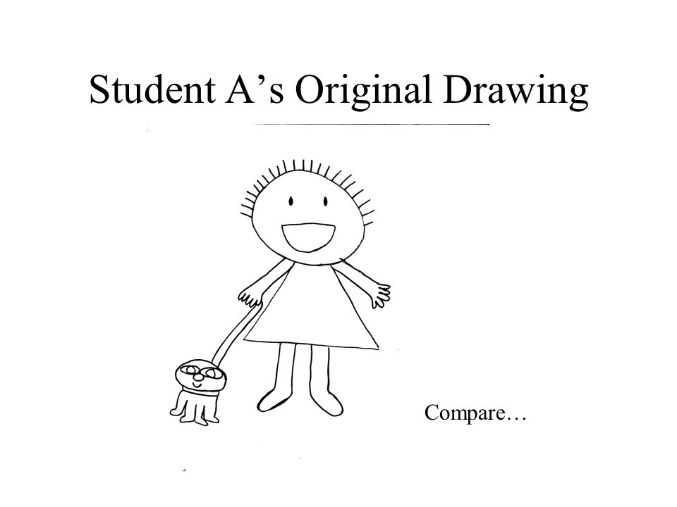 Student A's Original Drawing Compare…