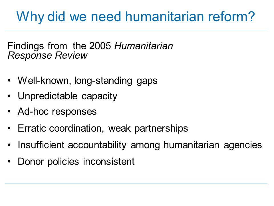 PARTNERSHIPS CAPACITY & PREDICTABAILITY FINANCING LEADERSHIP STRENGTHENING HUMANITARIAN RESPONSE Enhance humanitarian response capacity Predictability, Accountability and Partnership