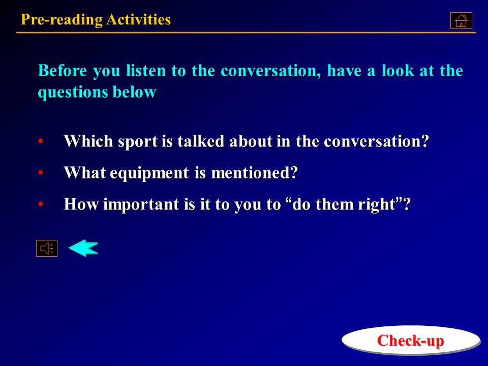 Match the sports in Column A with the playing areas in Column B. Then in Column C, list all the things (equipment, special clothing, etc.) that are ne