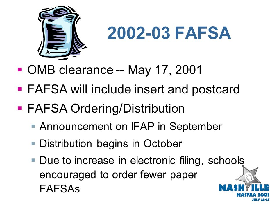 FAFSA Express  Will discontinue at end of 2001-02  TRIO Centers will have option to use a modified version of EDExpress