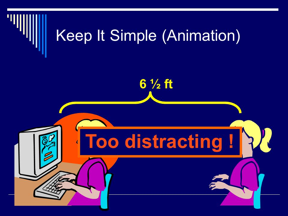 Keep It Simple (Transition)  This transition is annoying, not enhancing Appear and Disappear are better