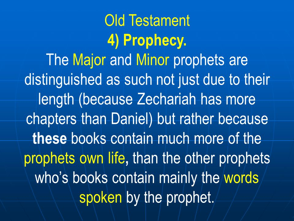 Old Testament God has given different commandments and laws to men in different ages.