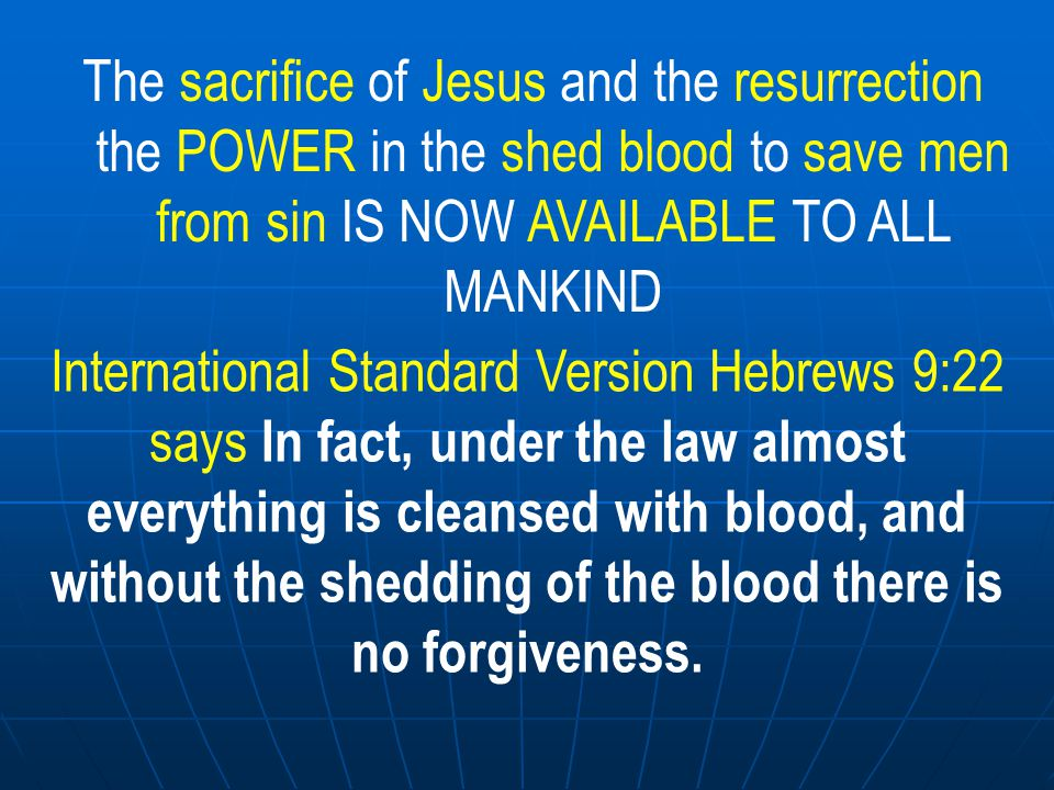 SO THE IMPORTANCE OF ACTS CHAPTER 2 THIS IS WHY Acts 2 is important Peter is preaching that the blood of the sacrifice is NOW available to cleanse us from our sins and in Acts 2:37; in effect the people are saying what must we do to receive this cleansing blood this forgiveness of our sins