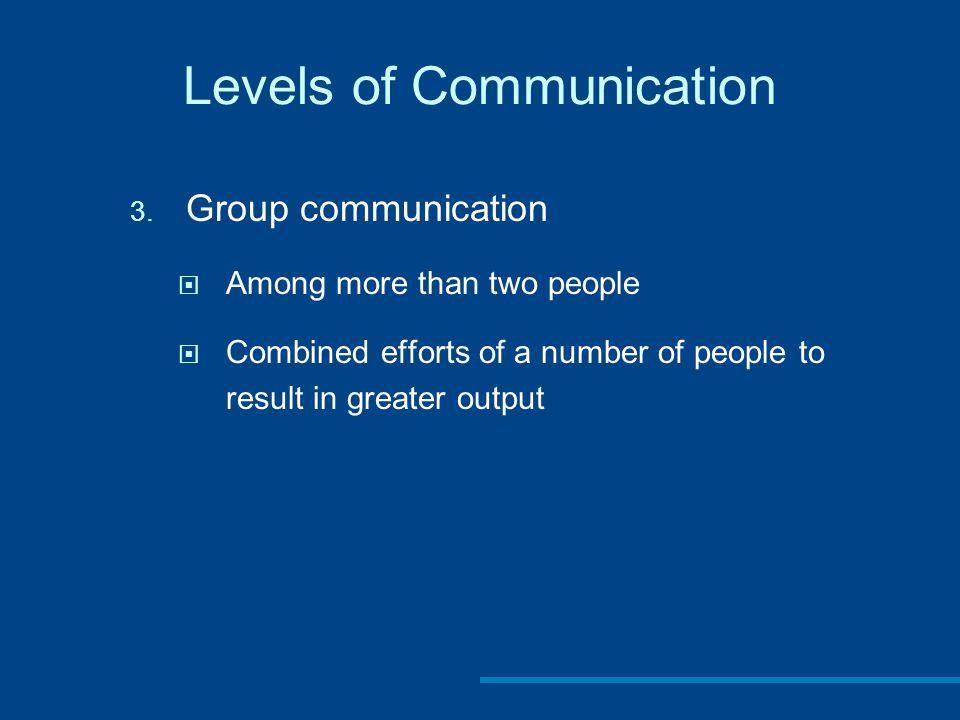 Levels of Communication 3.
