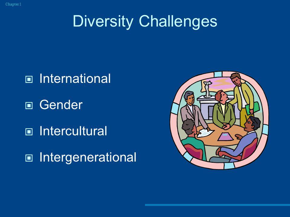 Diversity Challenges Chapter 1 International Gender Intercultural Intergenerational