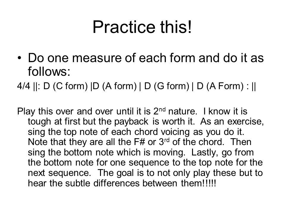Practice this.