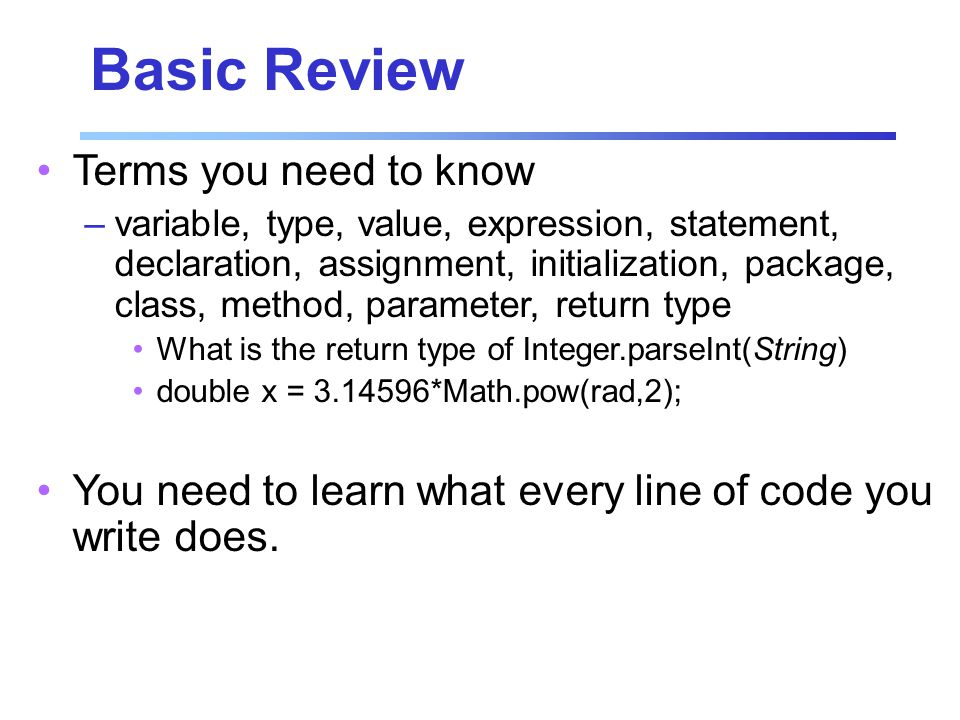 GradeReport.java Example