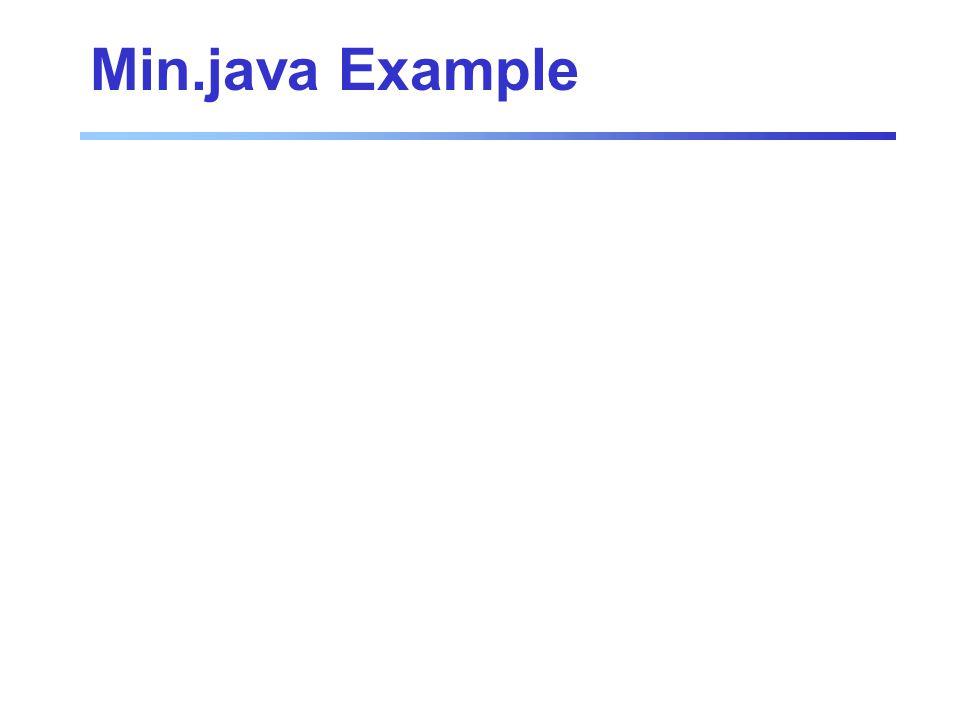 Min.java Example