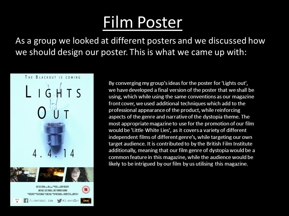 These Were the different posters that I evaluated to gain greater knowledge when creating my own. d