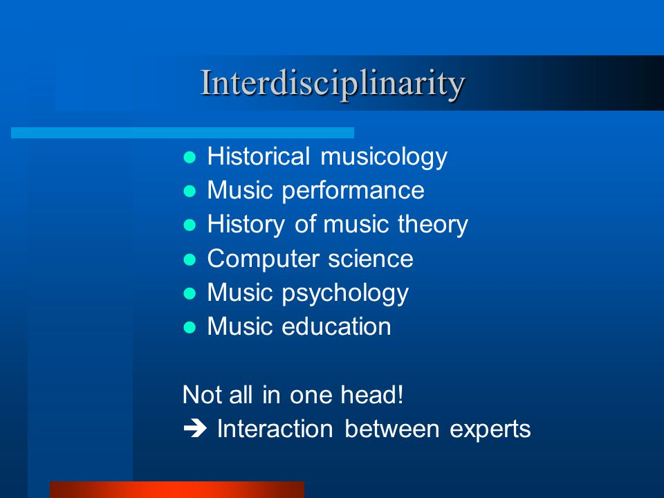 Background in relevant disciplines…