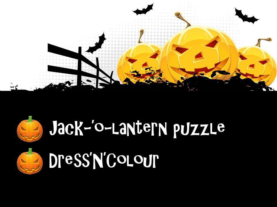 Jack-'o-lantern puzzle Jack-'o-lantern puzzle Dress'N'Colour