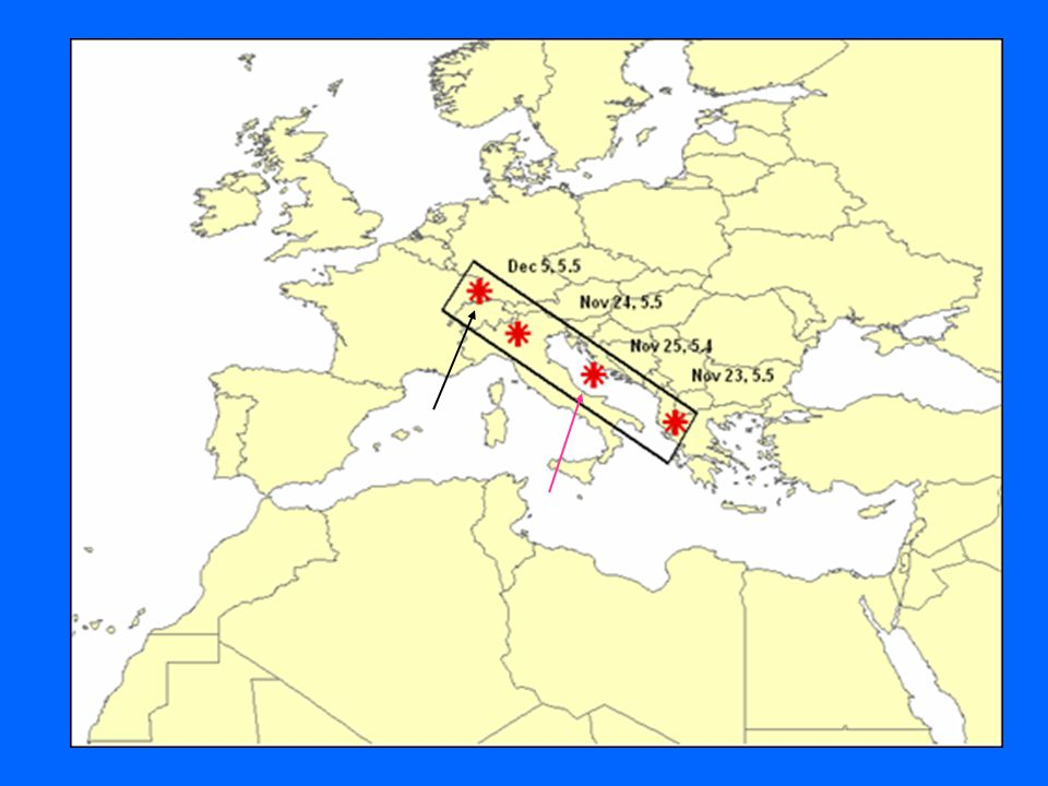 Adriatic sea sequence North Europe earthquake