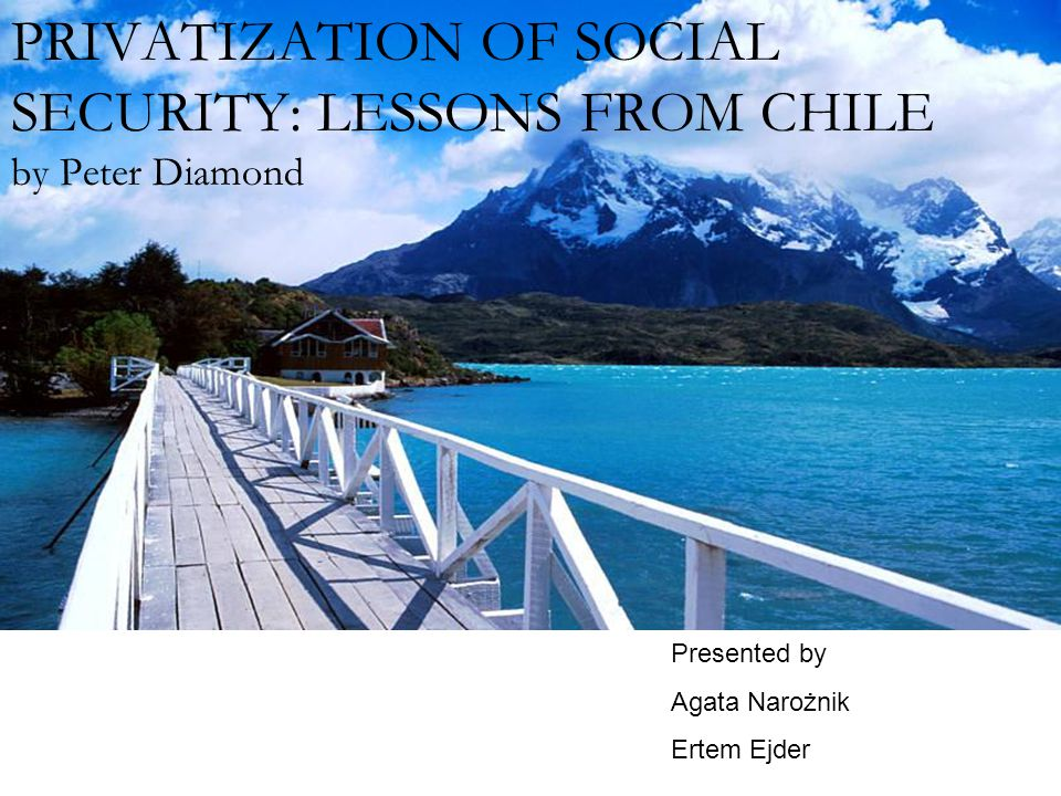 Outline: The history of the Chilean Social Insurance Scheme Key elements of Reform Costs Capital market Regulation Financing the Transition Redistribution and Political Risk Social risk and aggregate change Insurance