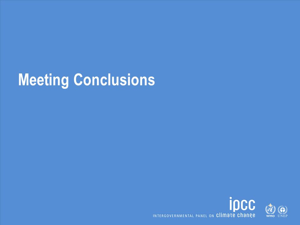 Meeting Conclusions