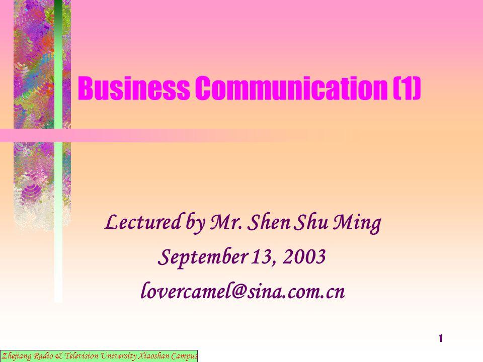 12 Business Communication (1) 8.
