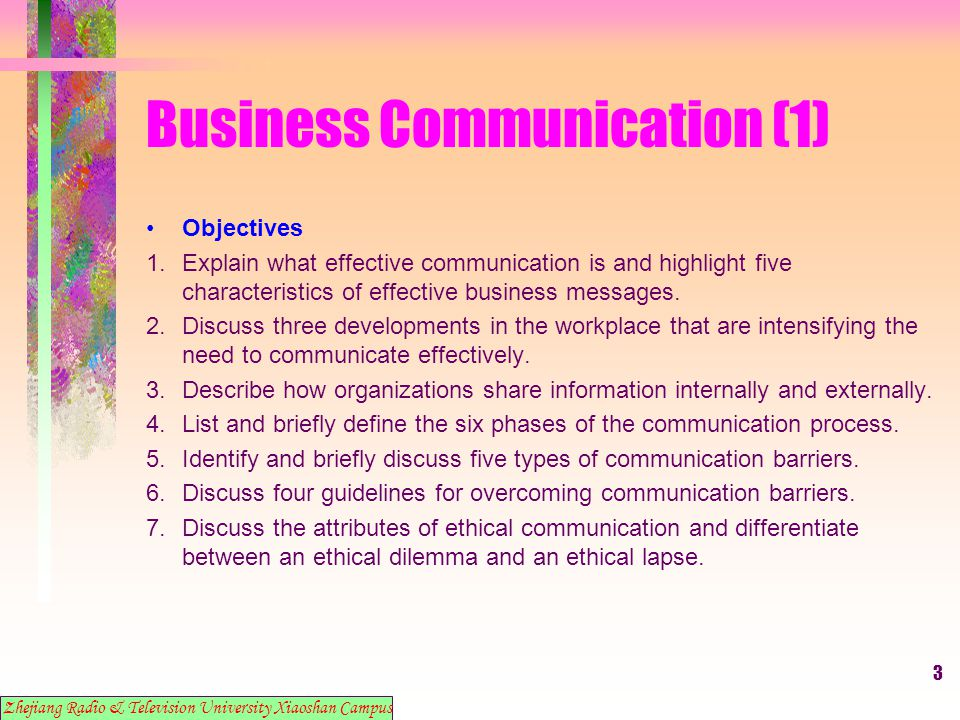 4 Business Communication (1) 1.