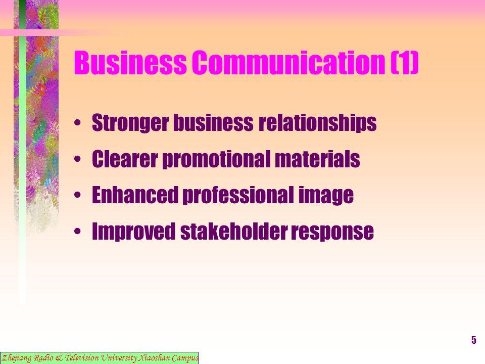 6 Business Communication (1) 2.