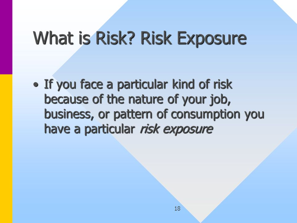 18 What is Risk.