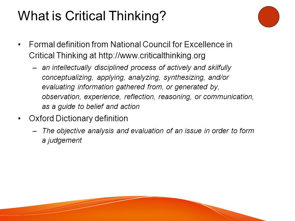 Let s test your critical thinking skills.