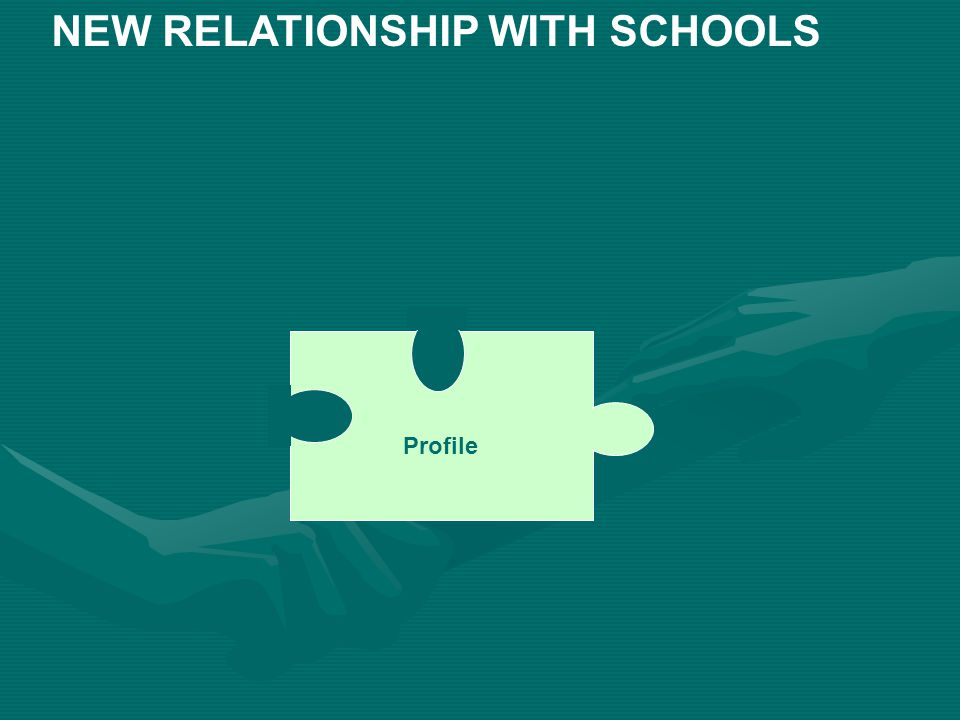 Profile NEW RELATIONSHIP WITH SCHOOLS
