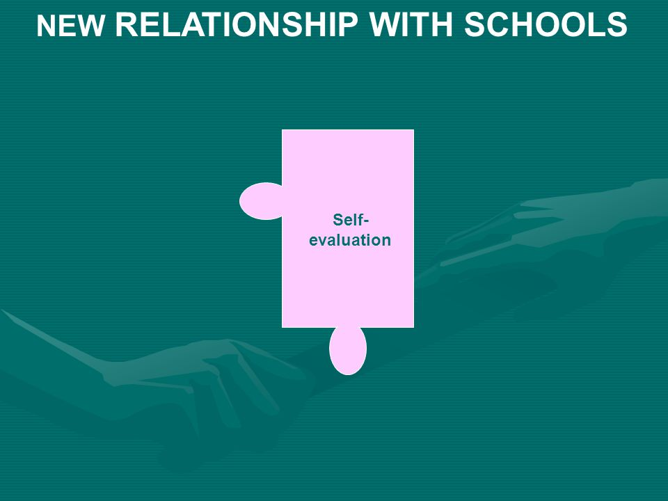 Self- evaluation NEW RELATIONSHIP WITH SCHOOLS