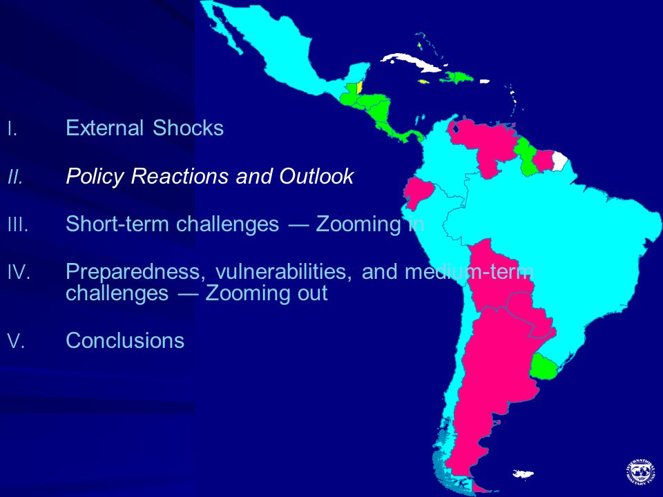 8 I. External Shocks II. Policy Reactions and Outlook III. Short-term challenges ― Zooming in IV. Preparedness, vulnerabilities, and medium-term chall
