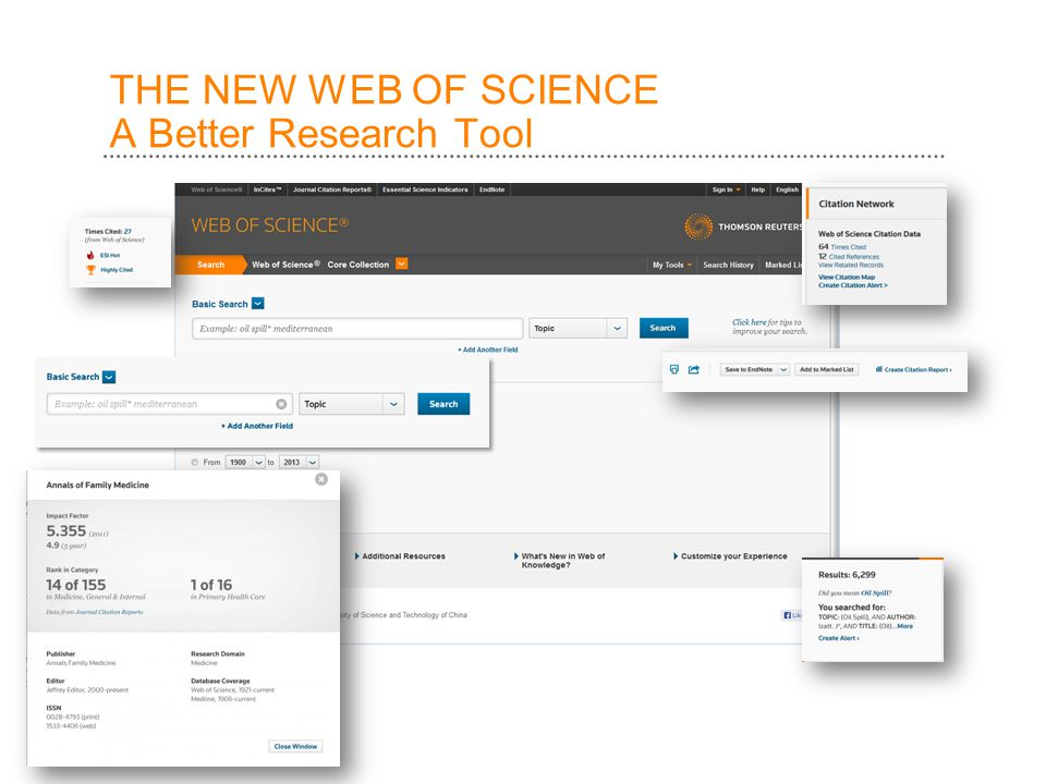 THE NEW WEB OF SCIENCE A Better Research Tool