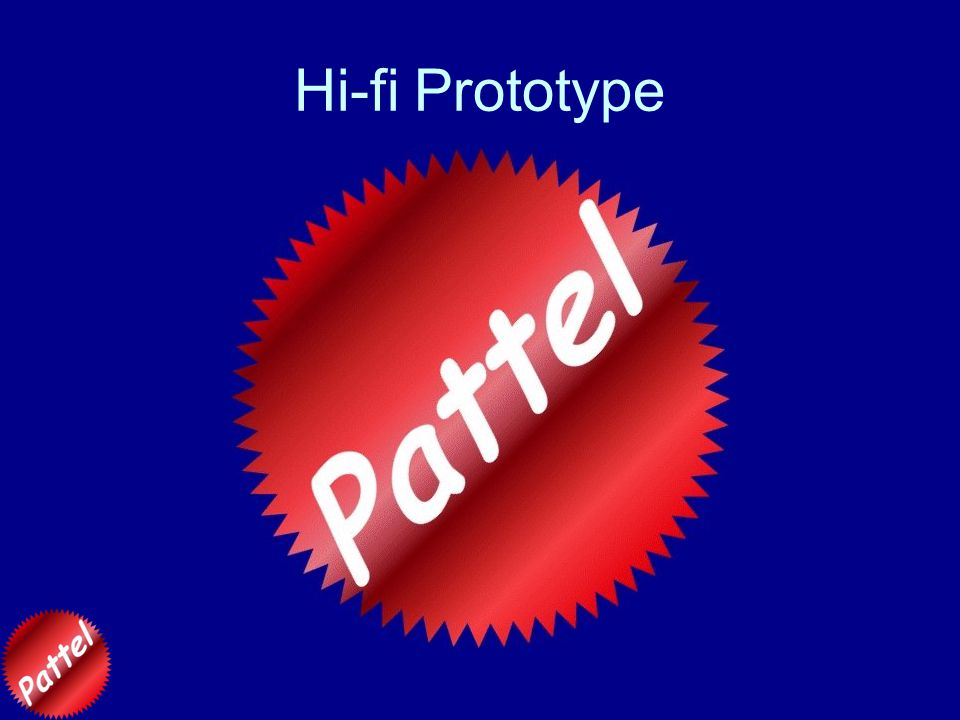 Hi-fi Prototype