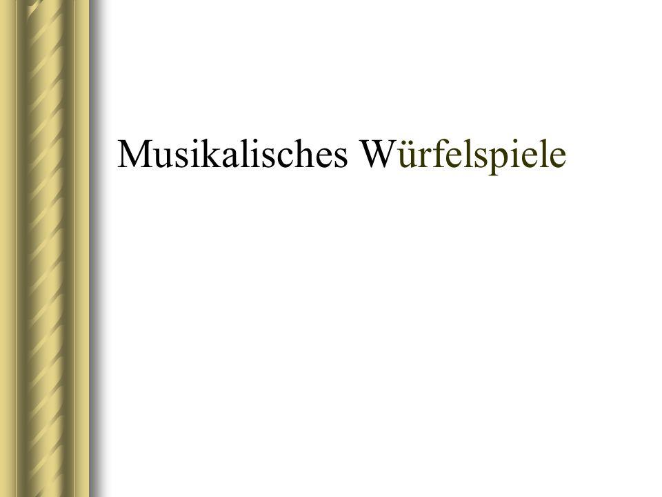 Musikalisches Würfelspiele