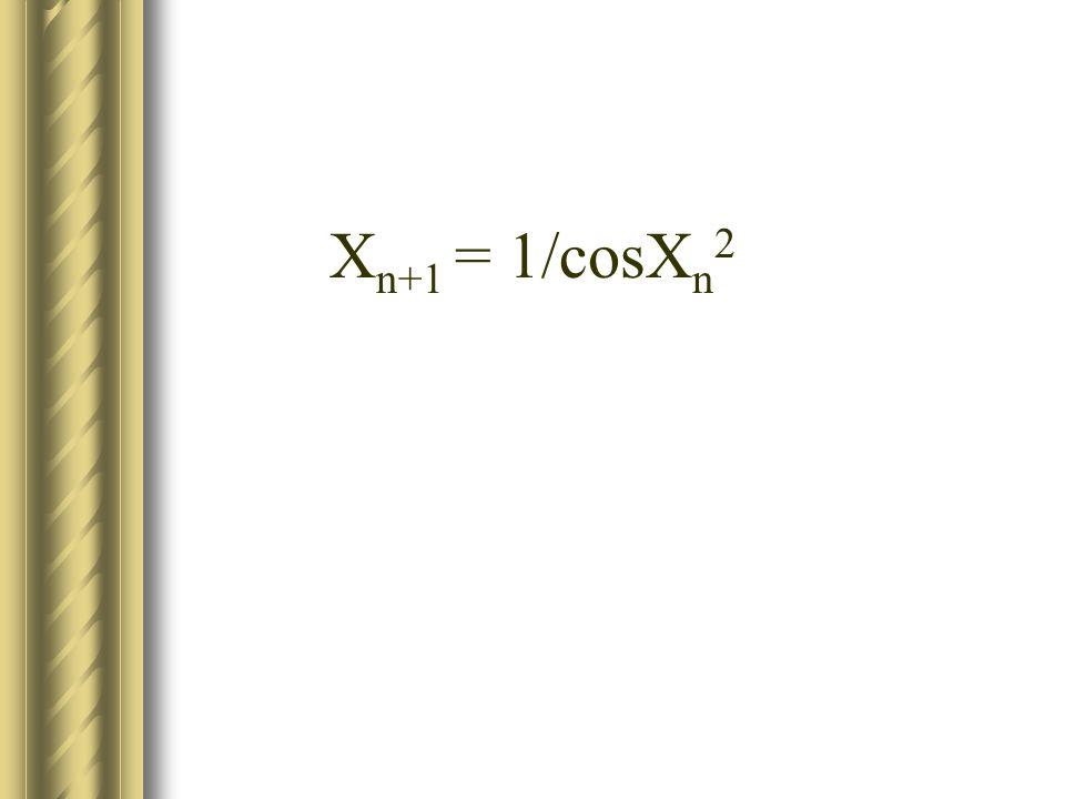 X n+1 = 1/cosX n 2